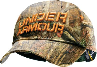 Hunting Stretch-fit cap has a moisture-wicking HeatGear sweatband, raised embroidery and a UA logo on the back. 100% polyester. Imported. Sizes: S/M, L/XL.Camo patterns: Realtree AP , Mossy Oak Break-Up Infinity . - $12.88