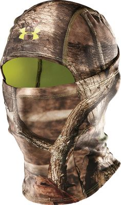 Hunting The Under Armour Scent-Control Hood delivers full face protection from the elements and superior moisture management, all while helping to control human odor. Soft, smooth face with a low-pile fleece backing. Converts to neck gaiter. One size fits most. Imported.Camo patterns/color: Realtree AP, Mossy Oak Break-Up Infinity, Realtree XTRA/Dynamite. - $26.88