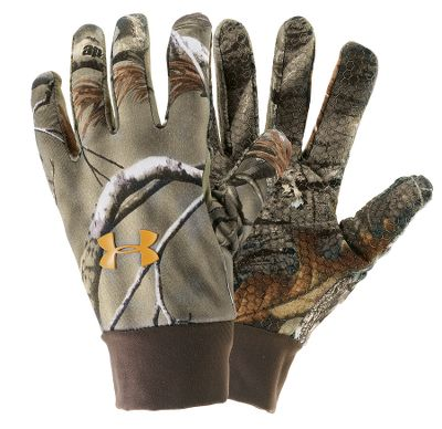 Hunting These gloves have all the warmth you need without the weight. Both breathable and lightweight, they have a plush fleece liner and smooth exterior. Maintaining a hold is easy with the grippy palms. Imported. Sizes: S-XL. Colors: Realtree AP ,Mossy Oak New Break-Up , Mossy Oak Treestand , Mossy Oak Break-Up Infinity . - $17.88