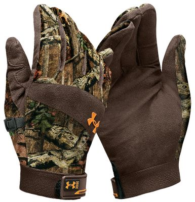 Hunting Idylwild Gloves are perfect for mild- to cold-weather hunting conditions. Based on mechanic's gloves, you'll be impressed with their fit and feel. They offer high-dexterity synthetic leather palms and high-density knit sueded tops for comfort, performance and wind resistance. Elastic and Velcro closures form a tight seal. Imported.Sizes: S-XL.Camo patterns: Mossy Oak New Break-Up , Realtree AP ,Mossy Oak Break-Up Infinity . - $18.88