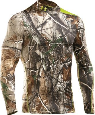 Hunting Enhanced by UA Scent-Control technology, this super-soft Under Armour Evolution Scent-Control Mock-Neck Shirt brings outstanding warmth, undeniable comfort and the advantage of scent control to your hunt. Constructed of breathable, four-way-stretch ColdGear fabric, this bulk-free layer actively transports moisture away from skin for dry comfort. Ergonomic seam placements add even more comfort. Compression-fitted for against-the-skin wear. Imported. Sizes: S-3XL. Camo pattern: Realtree XTRA, Mossy Oak Break Up Infinity/Velocity. Size: L. Color: Realtree Xtra. Gender: Male. Age Group: Adult. - $59.88