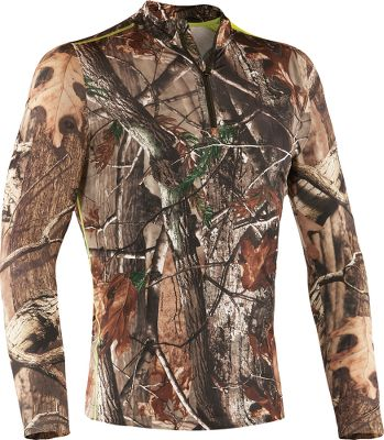 Hunting Enhanced by UA Mens Scent Control technology, this super-soft hunting layer brings outstanding warmth, undeniable comfort and the advantage of scent control to your hunt. Constructed of breathable, four-way-stretch ColdGear fabric, this bulk-free layer actively transports moisture away from skin for dry comfort. Ergonomic seam placements add even more comfort. Fitted for layering. Imported. Camo pattern: Mossy Oak Break-Up Infinity. Size: 2XL. Color: Mo Break-Up Infinity. Gender: Male. Age Group: Adult. - $69.88