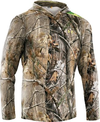 Hunting Enhanced by UA Scent-Control technology, this super-soft hunting layer brings outstanding warmth, undeniable comfort and the advantage of scent control to your hunt. Constructed of breathable, four-way-stretch ColdGear fabric, this bulk-free layer actively transports moisture away from skin for dry comfort. Ergonomic seam placements add even more comfort. The Fitted for layering. Imported. Sizes: S-3XL. Camo patterns: Mossy Oak Break-Up Infinity, Realtree AP. - $59.88