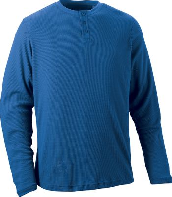 Fitness Long-sleeve henley combines superior moisture management with ColdGear technology to keep you warm and dry. ArmourBlock anti-odor technology. Three-button placket. 100% recycled polyester. Imported. Sizes: M-2XL.Colors: Heron, Bureau. - $34.88