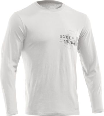 Fitness The experts at industry-leading Under Armour perfected this all-cotton tee that matches the moisture-wicking, fast-drying characteristics of traditional synthetic performance tees. With a loose fit and four-way stretch, this tee offers cottons traditional skin-pleasing softness in a performance package. Pocket Tee boasts a left front chest pocket. Machine washable. Imported. Type: Long-Sleeve Tee Shirts. Size: Medium. Color: Battle. Size Medium. Color Battle. - $13.88