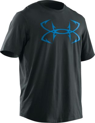 Fitness Under Armors Mens Charged Cotton tee blends the softness of traditional cotton with the quick-drying, moisture-wicking benefits of synthetic performance tees. Anti-odor technology provides odor-reducing comfort. HeatGear technology wicks moisture from your skin to keep you cool and dry. 60/40 polyester/cotton construction. Loose fit. Imported. Size: XL. Color: Bluaway. Gender: Male. Age Group: Adult. Material: Polyester. - $27.99