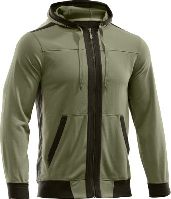Fitness Super-soft 98/2 polyester/elastane performance fleece along with AllSeasonGear four-way-stretch construction provide high warmth without weight. Large front cargo pockets and hood add extra shielding from the cold. Imported. Sizes: M-2XL. Colors: Storm/Cadet, Thyme/Rifle. - $44.88