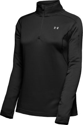 Fitness Built with lightweight ColdGear fabrics for warmth without weight. Quick-drying brushed-fleece inner layer traps body heat, while its unique grid construction regulates temperatures. Raglan sleeves ensure total mobility. 1/4-zip front allows for easy on and off. Upper arm pocket. 100% polyester. Imported.Sizes: S-XL. Colors: Mulberry, Black, Blue Topaz, Mantis, Watermelon. - $39.99
