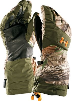 Hunting GORE-TEX X-TRAFIT waterproof, breathable linings. PrimaLoft insulation for warmth. ColdGear linings to wick moisture and circulate heat. One-hand cuff adjustment. Durable leather palms. Pre-curved fit. Imported.Camo pattern: Realtree AP. Type: Gloves. Size: Large. Camo Pattern: Realtree AP. Size Large. Color Realtree Ap Hd. - $41.88