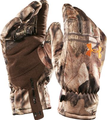 Hunting UAScent Control technology. Windproof laminated fabric. Durable synthetic leather palms. Silicone grip and fingertips. Pre-curved fit. Imported. Sizes: S-XL.Camo patterns: Realtree AP, Mossy Oak Break-Up Infinity. - $29.99