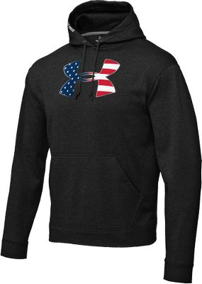 Fitness ArmourFleece with a brushed poly lining locks in warmth. Quick-dry fabric wicks moisture away from skin. Handwarmer pockets. UA flag logo. Imported.Sizes: S-2XL.Color: Black. Type: Hoodies. Size: 3 X-Large. Color: Black. Size 3xl. Color Black. - $64.99