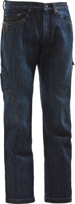 Fitness Rugged work pants designed for heavy-duty use. Its 88/12 cotton/nylon blend is two times stronger than traditional denim and sports a water-resistant finish. Synthetic pocket trim resists tearing and fraying. Five pockets are conveniently placed and offer ample storage for work essentials. Imported. Inseams: 30, 32, 34. Even waist sizes: 30-44.Color: Indigo. - $89.99