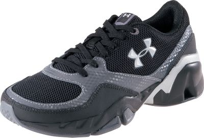 Fitness Lightweight, mesh uppers deliver cooling comfort in the heat. Structured leather overlays provide support in high-stress, flexing areas. Armour Bound midsoles cushion, while maximizing running stability. Nonmarking rubber outsoles. Imported. Kids whole sizes: 11-13, 1-3.Color: Black/Graphite/Silver. - $29.88
