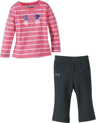 Fitness For the pre-toddling athlete, this fun set features a striped, long-sleeve shirt with complementary pants. Shirt bears the Under Armour logo. 100% jersey-knit cotton. Imported.Sizes: 0-3 mo., 3-6 mo., 6-9 mo. Color: Ultra Heather. - $19.88