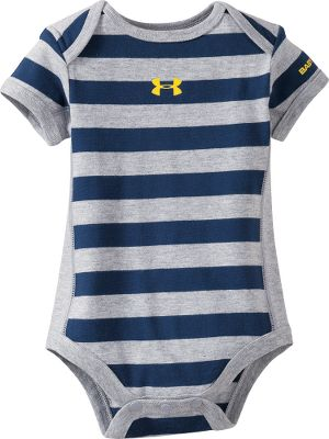 Sports This adorable striped cotton snap shirt will become a favorite for your pre-toddling athlete, and has soft, football-jersey-style mesh panels on the sides. Imported.Sizes: 0-3 mo., 3-6 mo., 6-9 mo.Color: Midnight Navy. - $14.99
