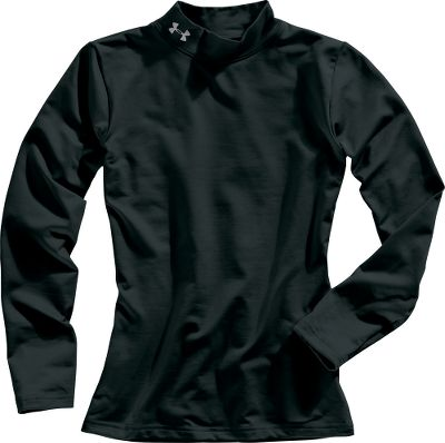 Fitness Under Armours brushed fabric combines enhanced thermal protection and moisture-wicking material. With a superior slip-on feel, you couldnt ask for a better under layer for high levels of activity. 89/11 polyester/elastane. Imported. Sizes: S-XL. Colors: Black, True Grey Heather, Royal. Size: Small. Color: Black. Gender: Male. Age Group: Kids. Material: Polyester. Type: Baselayer Tops. - $22.88