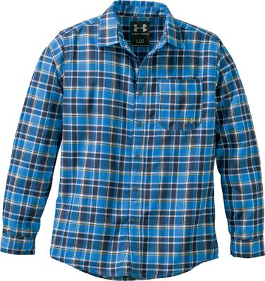 Fitness When youre out in the sun, this shirt works to protect you. Soft two-sided brushed flannel is lightweight, breathable and quick drying. The hollow yarns help transport moisture away from your body while providing extra insulation. UPF rating of 50+ protects you from the suns rays. Single chest pocket. Imported.Sizes: M-3XL.Colors: Black, Cadet. - $64.99