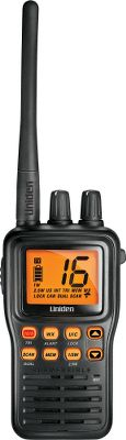Motorsports This tri-watt handheld radio will give you a longer battery life. Just switch the unit down to 1 watt when making short line-of-sight calls, or crank it up to 2.5 or 5 watts depending on your range needs. Meets JIS7 waterproof specifications. Covers all US, international and Canadian marine channels. Dual and Triple Watch modes and WX channels. Includes LiON battery pack, clip-on DC charger and belt clip. - $79.88