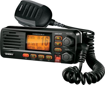 Camp and Hike Choose this space-saving 25-watt radio for its full-featured capabilities at an affordable price. Full class-D digital-selective-calling capability, including position send, test call, request and text. Receives all U.S., International and Canadian marine channels. NOAA emergency weather alert including S.A.M.E. LCD shows channel names, radio menu, DSC features and GPS data. Meets JIS4 waterproof level, which is splash resistant. Orange backlit LCD and buttons. Dual- and Triple-Watch modes. Three-year warranty. Colors: Black, White. Color: Orange. Type: Gimbal Mount VHF Radios. - $119.99
