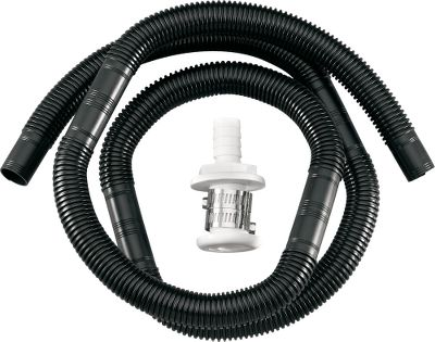 Motorsports A convenient kit with most everything you need to install a bilge pump in your boat. Comes with plastic bilge hose, plastic through-hull fitting and two stainless steel clamps. Available: 3/4 hose x 5 ft. Color: Stainless Steel. - $4.88