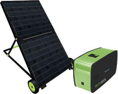 Camp and Hike Emergency situations can t always be prevented, but you can prepare for them with a little forethought. Now you can feel more confident knowing you have an emergency power source at your fingertips with this portable Solar-Powered Generator. The generator reaches a full charge within 12 hours using the solar panel giving you an average of four hours to power a cordless phone, television, clock radio or lamp. Use it in your home office to power your printer, laptop or wireless router for up to 10 hours. Four AC/DC outlets and charging gives you the choice to charge via the sun or through an electric outlet. Compared to potentially hazardous emissions typical of gas-powered generators, this is one of the cleanest, quietest solar solutions on the market today. The solar panel folds down for easy transport and includes a cart for extra portability. Manufacturer's five-year warranty for the panels; one-year warranty for the base. 50-ft. cord. 120-volt output. 1,800-watt energy. - $1,649.99