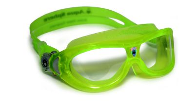Fitness Your child will have an easy time seeing while swimming. The specialized design of these Swim Goggles delivers 180-degree, distortion-free visibility. The ultradurable Plexisol lenses are crystal-clear and feature both an anti-fog and scratch-resistant coating. The Quick-Fit Buckle and durable strap deliver a perfectly comfortable, watertight seal. One size fits most children. Colors: Blue(not shown), Green. - $16.88