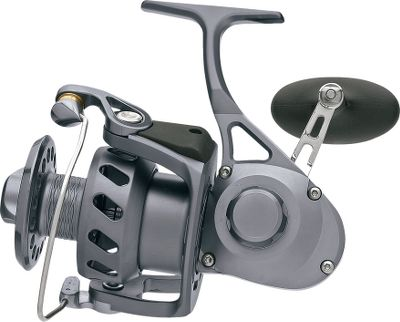 Fishing Delivers the super-high-end performance that made Van Staal famous, in a more affordable reel that still tops everything else in its class. Its 4.9:1 gear ratio balances speed and strength, and burns in 33 of line per turn. A team of five carbon-fiber drag washers resist wear and heat buildup, and provide 30 lbs. of drag power. Smooth, five-bearing drive and a one-way anti-reverse clutch for solid hooksets. Precision-machined aluminum body, rotor and spool. Fully anodized for premium corrosion resistance. Durable 316 stainless steel helical face gear and pinion gear. Stainless steel bail wire with internal trip. Easy conversion for right- or left-hand retrieves. Color: Stainless Steel. - $449.99