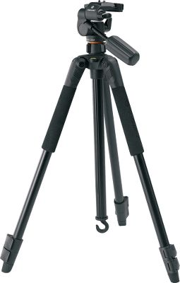 Hunting Engineered for photography enthusiasts. Features include aluminum-alloy construction with three-way pan heads, adjustable legs, anti-shock rings that cut camera vibration, removable quick shoes, anti-slip rubber feet and two foam grips. It has a three-second set up and its legs adjust to 25 angles. There is a tightening ring on the center column that enables adjustment of the center column in just a few seconds. Other features include a bubble level for precision, detachable center column hook to attach more weight for added stability and quick-clip leg locks. - $49.88