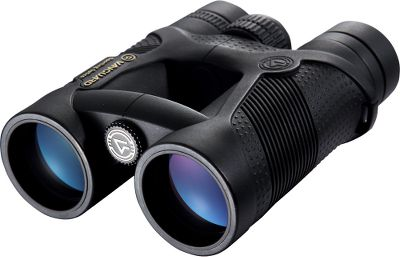 Hunting These value-loaded Vanguard Spirit XF 10x42 Binoculars feature Emerald objective lens coatings that filter color separations for improved brightness and image clarity outdoors. They also have BaK-4 roof prisms with exclusive P2 phase coatings for crystal-clear image resolution. Fully multicoated lenses increase brightness in low-light conditions. Compact and lightweight open-bridge frame with soft, textured rubber armor. Nitrogen charged and O-ring sealed for 100% waterproof, fogproof performance. Twist-up eyecups with extra-long eye relief. Large focus wheel. Includes neck strap and carry case. - $199.99