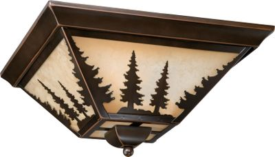 More than just another light, this eye-catching work of art coordinates with any outdoor-themed dcor while casting a warm light in the room. The burnished bronze finish and amber-flake glass give it antique patina. Requires one 60-watt, medium-base bulb. Dimensions: 5-3/4H x 14W x 14D. Color: Burnished Bronze. Type: Ceiling Lights. - $140.99