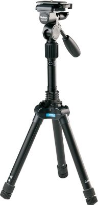Hunting Use this convenient tripod in the field for steadier viewing through spotting scopes, binoculars and cameras. Measuring only 11.3L when folded, its one of the most compact multifunctional tripods available. Uses Velbons unique leg-lock system that only requires a simple twist of the rubber foot to release all leg sections for extension. Six-section legs extend from 25.6 to 61.6 for a full range of positions, yet the entire unit weighs less than 3 lbs. Three-position leg angle setting includes standard, semi-low and low angle. 10-lb. maximum load capacity. Four-way panhead. Imported. Folded length: 11.3.Elevated height: 61.Leg sections: 6.Weight: 2.8 lbs. Type: Tripods. Ultra Reversible. - $209.99