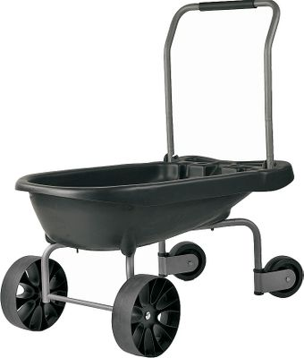 Camp and Hike The Super Duty Wagon Barrow tackles the heavy-duty work of both the wheelbarrow and the wagon. Steerable casters in rear deliver turn-on-a-dime maneuverability. Unique multiposition handle allows for pushing or pulling. Easy-tip design dumps loads with ease. Oversized, never-flat tires make rolling over most terrains a breeze. Constructed of heavy-duty plastic and steel. Imported. Dimensions: 41L x 22.5H x 41W. Type: Yard Tools. - $129.99