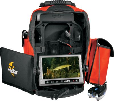Fishing Turn a Vexilar sonar into an advanced camera/sonar system quickly and cleanly. Simply remove your Vexilar sonar from your current pack and plug it in youre ready to go fishing. The Fish Scout Double Vision DT system includes digital depth, temperature and a camera-positioning directional sensor. The Fish Scout has a 16:9 wide-screen color monitor, 80 ft. of marked cable and a camera that automatically shifts from color to black-and-white mode in low-light conditions. Includes 12-volt battery, battery charger, carry case with battery-status indicator and two power cords to power Vexilar FL8, FL18, FL12, FL20 and FL22HD flashers. Type: Underwater Cameras. - $649.99