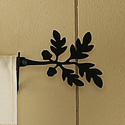 Hunting Give your window treatment an outdoors makeover with this 61-112 Adjustable Curtain Rod with Brackets. Made of durable wrought iron. Mounting hardware included. Center support not included. Made in USA. Measures: 61-112. Available:Deer and Pines, Pine Cone, Bear, Moose. Gender: Male. Age Group: Adult. - $69.99