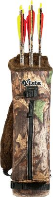 Hunting The Maverick is a modern back quiver with all the traditional features. It has a waistbelt, padded shoulder strap and a large accessory pocket. Will easily hold a dozen arrows. It even has an area to store a takedown recurve. Color: Camo. Color: Camo. - $76.99