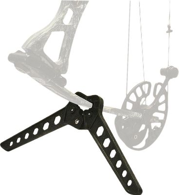 Hunting Take a break the next time you're out shooting your bow and keep your equipment off the ground with this lightweight, spring-loaded bow stand. It stays in the locked position when the kickstand is used, allowing you to set your bow on the ground safely. The stand easily folds up when not in use. - $13.88