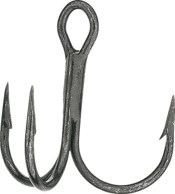 Fishing Strong and reliable, these treble hooks are 1X strong and are constructed of high-carbon steel for exceptional durability. Ultrasharp cut point. Imported. Available: 7-pack, 25-pack. Sizes: 1, 2, 3, 4. Colors: Black Nickel, Tin Red. Size: #1. Color: Black Nickel. Type: Treble. - $2.99