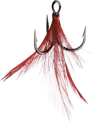 Fishing The X-Rap tail imitates the action of a minnows tail, triggering strikes. Per 2. Sizes: 6, 4, 2. Colors: Red Feather, Fire Tiger, Red Hook/White. Size: 6. Color: White. Type: Treble. - $3.99