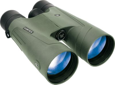 Hunting Find the Vortex Optic that is right for you. Amazing performance and features at a price thats way below the competition for this class of optics makes these one of the best values in open-country binoculars. They push the performance envelope by integrating the latest optical features and production techniques. The result is superior image clarity, incredible resolution, outstanding 15x56 magnification and low-light performance. Advanced ArmorTek exterior optics multicoating protects lenses from scratches, dirt and fingerprints while enhancing image quality. Phase-corrected, full-size roof prisms team with multilayer XR optics coatings and extra-low-dispersion objective lens glass to render crisp images and precise color reproduction across the spectrum. The lightweight, waterproof, fogproof, shockproof, argon-gas-purged chassis is covered in durable rubber armor that protects and ensures a firm grip in any weather. Tapered multiposition eyecups are reinforced with metal for added durability. Tripod-adaptable. Imported. Color/Camo Pattern: Green. Binocular Color: Green. Weight (oz.): 44. Type: Full-Size. Power: 15x56. Height (in.): 7.7. FOV @ 1,000 yds. (ft.): 226. Magnification: 15x. Prism Type: Roof. Power 15x56 Hd. - $799.88