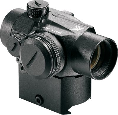 Hunting Find the Vortex Optic that is right for you. The compact, daylight-bright Speed Point Aiming for Rapid Combat (SPARC) scope adapts to a variety of firearm platforms. Its three-piece modular base has four mounting heights for user- and weapon-specific applications. Fully multicoated lenses increase light transmission. Tough aircraft-grade 6061-T6 aluminum body. Rear-facing and side digital controls for on/off and dot brightness. Multiheight mount system accommodates AR-15s needing absolute or lower 1/3 co-witness heights. Threaded to accept accessory anti-reflective device. Comes with screw-in 2X magnifier. Parallax-free for rapid shooting. Type: Red Dot Scopes. - $179.88