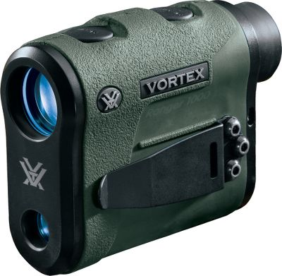 Hunting Find the Vortex Optic that is right for you. The Ranger 1000 gives gun hunters, target shooters and bowhunters the data to be accurate to 1,000 yards. Plus, it can be set to yards or meters. Primary Horizontal Component Distance (HCD) mode displays an angle-compensated distance. A clean display and highly intuitive menu keep things simple, yet provide high-level performance. Fully multicoated lenses deliver optimal light transmission, while O-ring seals make them waterproof. Its compact, ergonomic and lightweight, making it easy to pack or hang around your neck using the included lanyard. An adjustable utility clip can be mounted to the right or left side to clip it to a belt, pocket or other flat-edged surface for easy access, or can be completely removed. Runs on one CR-2 battery (included). Vortex VIP unlimited lifetime warranty. 3.9L x 3W. Wt:7.7 oz. Type: Rangefinders. - $379.99