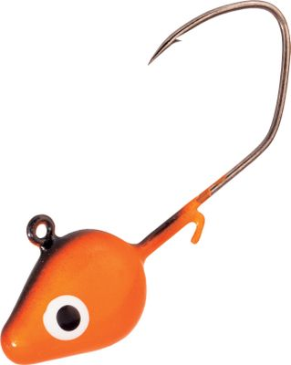 Fishing The versatile minnow jighead features a solid-color finish and double painted eyes. The gold sickle hook keeps fish from throwing the hook. Wire keeper. Per 6. Sizes: 1/4 oz., 1/8 oz., 3/8 oz. Colors: (003)White, (009)Orange/Chartreuse, (015)Lime/Chartreuse. Color: Chartreuse. - $1.88