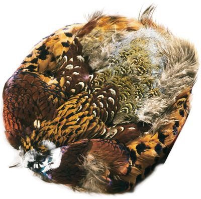 Flyfishing TheRingneck Pheasant skins provide a myriad of colorful feathers. Does not include the tail. - $14.69
