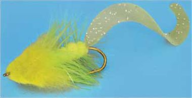 Flyfishing Add these tails instead of marabou to your woolly bugger pattern for great results on smallmouth bass, crappies and bluegills. Available in two sizes to match most sizes of flies. 20 per pkg. Sizes: Small 2, Large 2-1/4. Colors:Black (not shown), White(not shown), Chartreuse, Pumpkin(not shown). Size: SMALL. Color: Chartreuse. Type: Synthetics. - $6.99