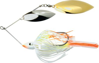 Fishing Premium skirt and blades offer maximum flash. Rigged with a super-sharp, top-grade Trokar hook. Double willow blades. Made in USA. Per each. Sizes: 1/2 oz., 3/8 oz. Colors:(001)Cole Slaw, (002)White/Chartreuse, (003)Mouse, (004)Purple Shad, (005)Gold Shiner, (006)Shiny Shad, (009)Sexxy Shad, (012)Sexxy Table Rock Shad. Color: Chartreuse. Type: Spinnerbaits. - $8.99