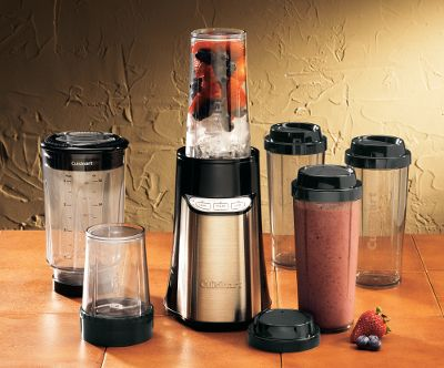 This compact powerhouse does it all. The streamlined, 32-oz. blender cup makes smoothies; an 8-oz. chopper cup minces herbs and the four 16-oz. to-go cups whip up custom drinks. Its 350-watt motor, with LED-indicated high, low and pulse keypad modes, brings big-blender performance to this one-hand-operated package. Three-year limited warranty. Imported. Weight: 4 lbs. Dimensions: 10-1/4 L x 8 W x 8 H. Type: Blenders. - $69.99