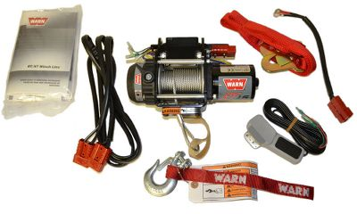 Motorsports Equip any 12-volt vehicle with a versatile, heavy-duty winch capable of handling 1,500-lb. loads. 12.5-lb. winch is ideal for utility work with lightweight vehicles. Handheld remote has a 10-ft. lead and detaches from unit for simple transfer between vehicles. Three-stage planetary gear train for fast line speed. Patented disc brake delivers reliable stopping power. Sealed motor protects internal components from the elements. Freespooling, cam-activated clutch. Comes with 25 ft. of steel wire rope, wired remote, 10-gauge battery wiring and nylon rigging strap. Backed by manufacturers limited lifetime warranty. Dimensions: 4.2H x 10.3W. x 4D. Gender: Male. Age Group: Adult. - $349.99