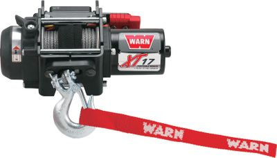 Motorsports Make short work of big problems with this compact, portable winch. Its 1,700-lb. pulling capacity delivers the mud-busting power necessary to get you out of sticky situations. A corded remote control with a 10-ft. lead. The three-stage planetary gearbox and cam-activated clutch ensure smooth operation, while a mechanical brake provides safety and control. Sealed housing keeps out dirt and water. Aluminum construction with 40-ft. synthetic rope, rigging strap and wiring. Weight: 8-1/2 lbs. - $399.99