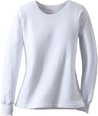 This double-layer, base layer crew provides exceptional warmth for layering during cold-weather activities. Working together, the soft inner layer and warm, durable outer layer form a thermal barrier for heat-trapping comfort. 60/40 cotton/polyester. Imported.Sizes: S-XL.Color: White. Type: Baselayer. Size: Large. Color: White. Size Large. Color White. - $14.88