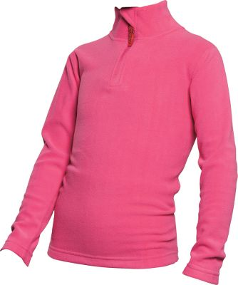 Soft microfiber fabric wicks moisture away from her skin to keep her dry and warm. Anti-pilling, double-brushed surface on both the inside and outside of the garment ensures better thermal retention. Zipper garage at the top of the neck prevents irritation. 100% polyester. Imported.Sizes: S-L.Color: Pink. - $19.95
